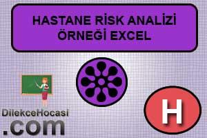Hastane risk analizi örneği excel