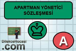 apartman yönetimi sözleşmesi