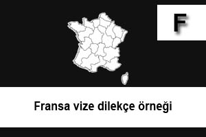 fransa vize dilekçe