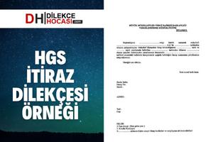HGS İtiraz Dilekçesi Örneği